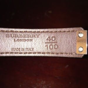 Burberry Accessories - NWT Burberry Pink Belt (Size 40/100)